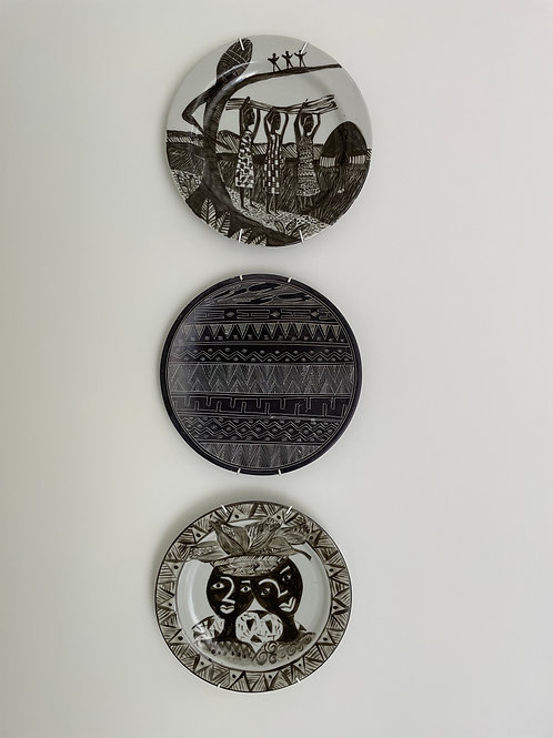 Lot 50 - Trio of Hanging Plates