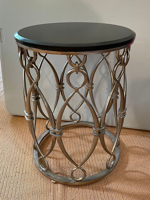 Lot 91 - Stone Top Drum Table