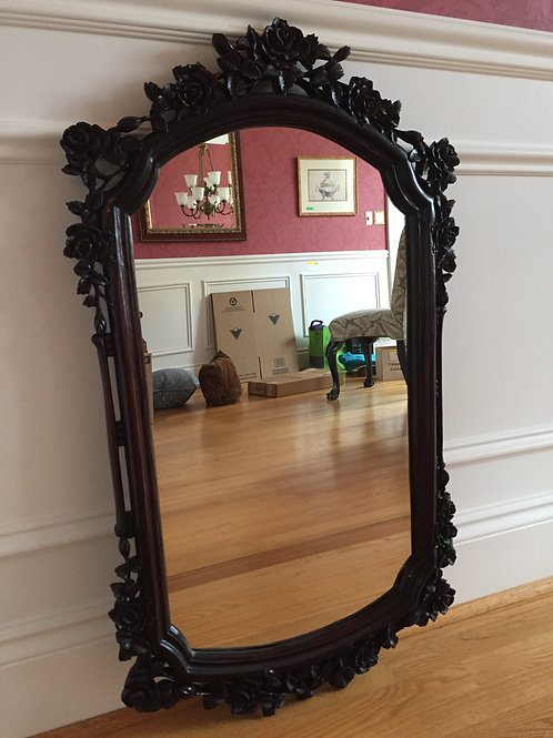 Lot 130 - Hand-Carved Antique Mirror