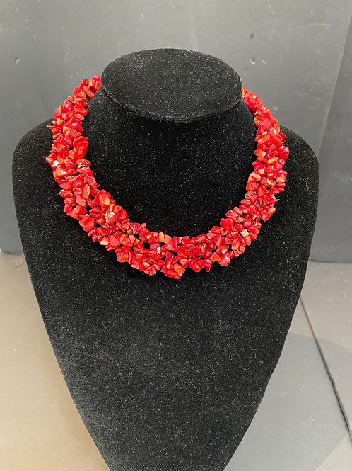 Lot 78 - Red Coral Choker