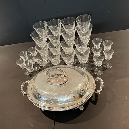 Lot 64 - Silver-Plate Serving Dish, etc...