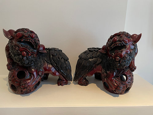 Lot 2 - Pair of Foo Dogs