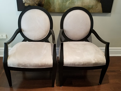 Lot 15 Pair of Ultrasuede Chairs