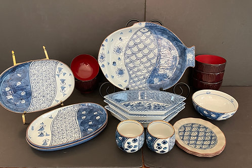 Lot 83 - Blue & White Dishes