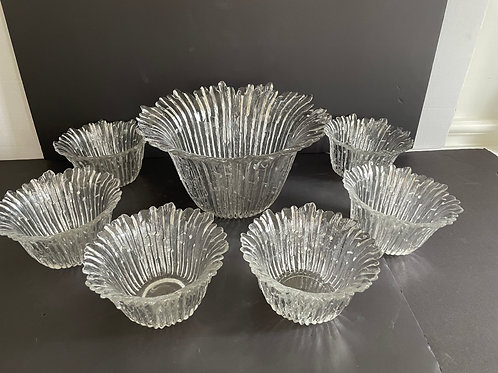 Lot 66 - Glass Fluted Bowls