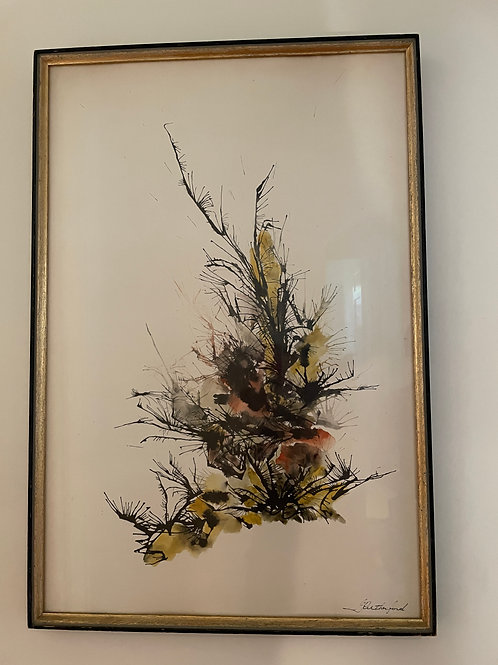 Lot 79 - Signed Ink & Watercolour