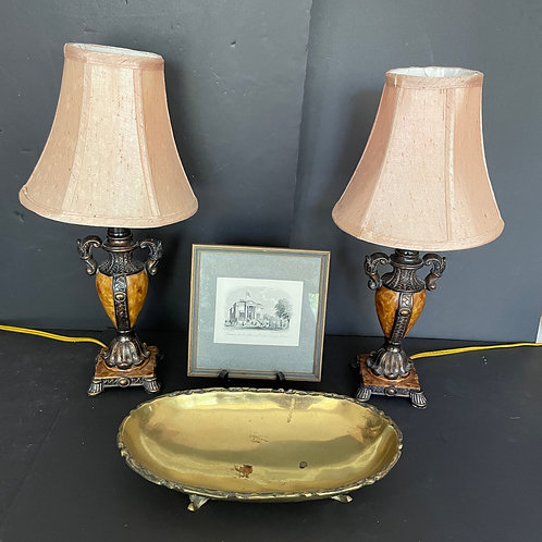 Lot 68 - Pair of Small Lamps, etc...