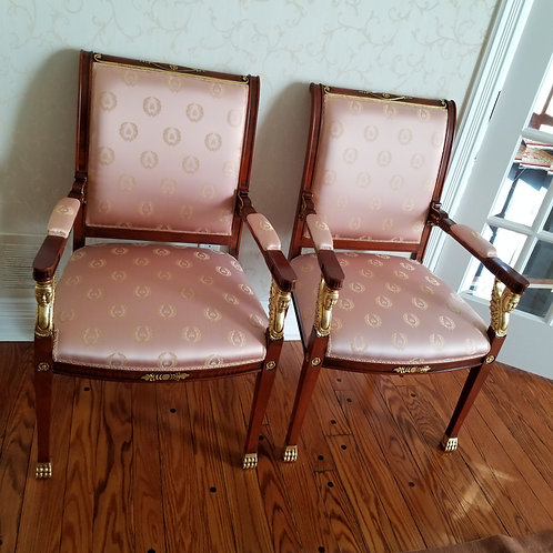 Lot 44 Pair of Silk Chairs
