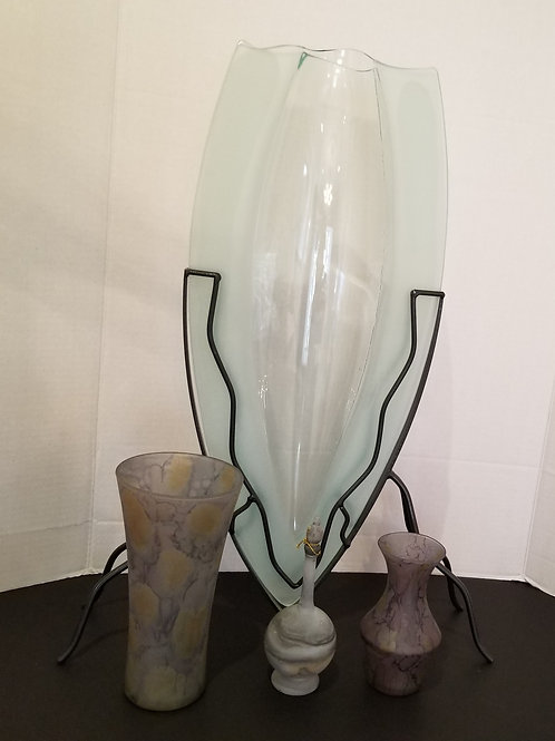 Lot 43 Tall Vase and Israeli Glass Pieces