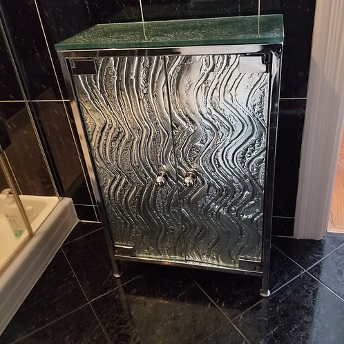 Lot 12 Pebbled Glass Cabinet