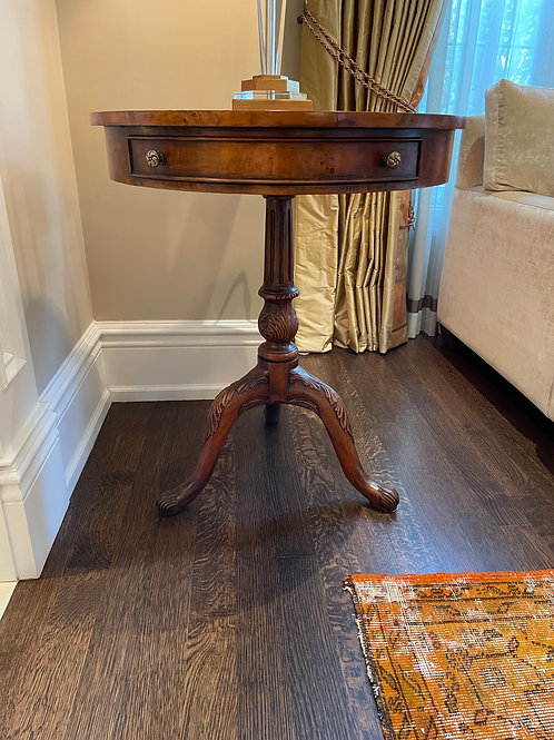 Lot 17 - Leather Top Table