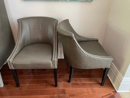 Lot 19 - Pair Grey Chairs
