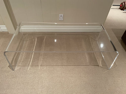 Lot 76 - Lucite Waterfall Table