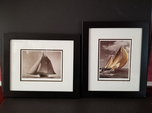 Lot 90 - Pair of Sailing Pictures