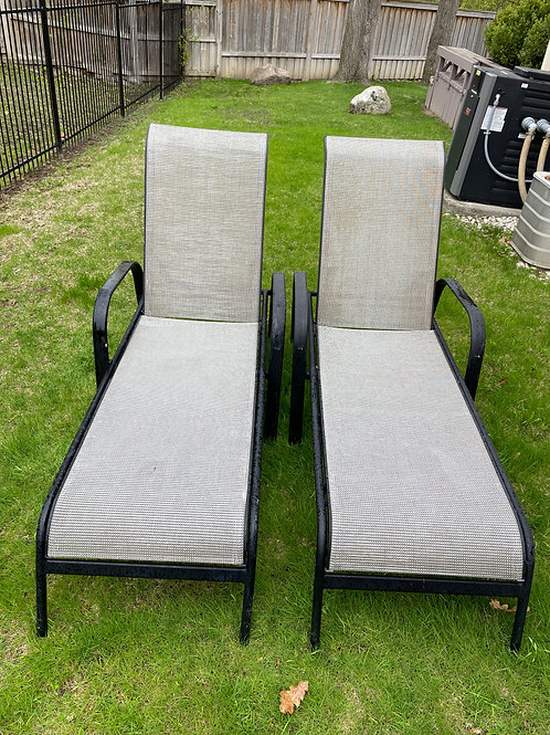 Lot 52 - Pair Patio Loungers (A)