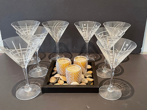 Lot 30 - 8 Martini Glasses, etc...