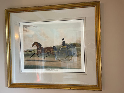 Lot 166 - 'Lord William' Horse & Carriage Art