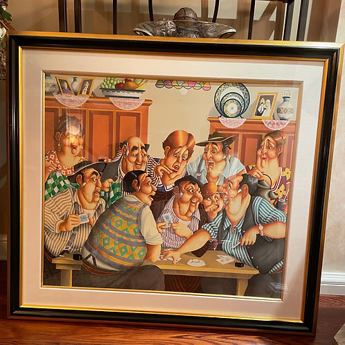 Lot 130 - 'The Card Game' - Artist Proof