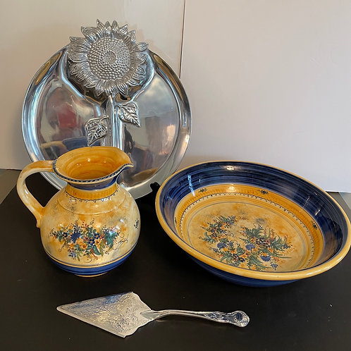 Lot 79 - Pitcher/Bowl from Greece, etc...