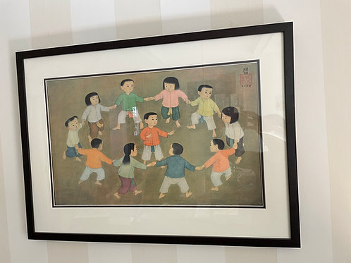 Lot 70 - Lithograph of Circle of Children
