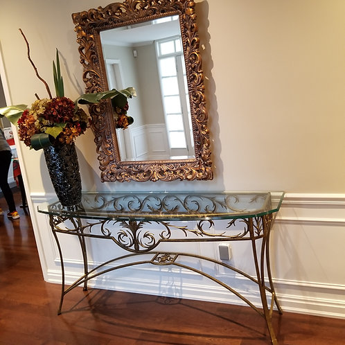 Lot 37 Hollywood Regency Style Hall Table