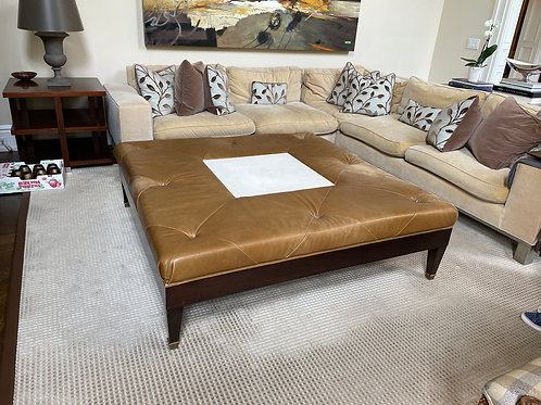 Lot 4 - Large Leather Ottoman