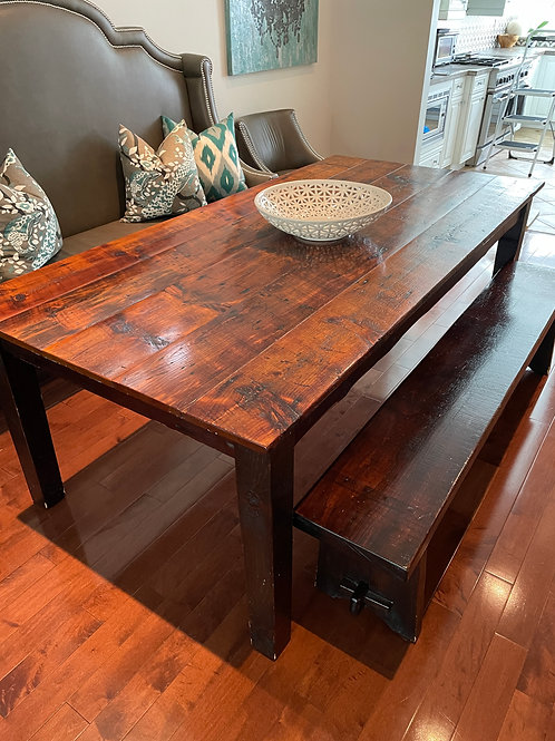 Lot 20 - Harvest Table w/ Bench