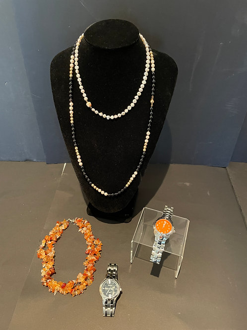 Lot 53 - Pearl Necklaces/Watches, etc...