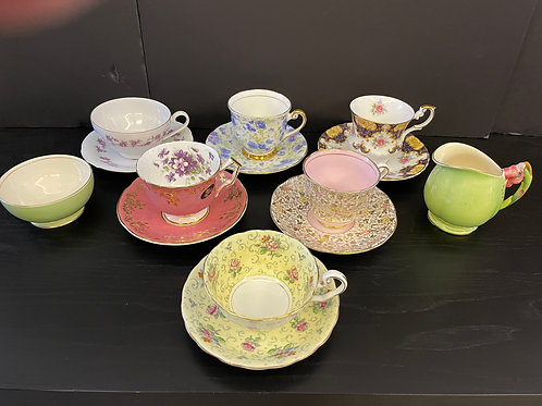 Lot 69 - Assorted Vintage Cups/Saucers
