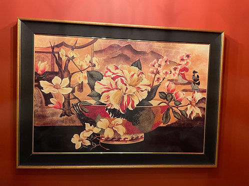 Lot 109 - Floral Print on Board