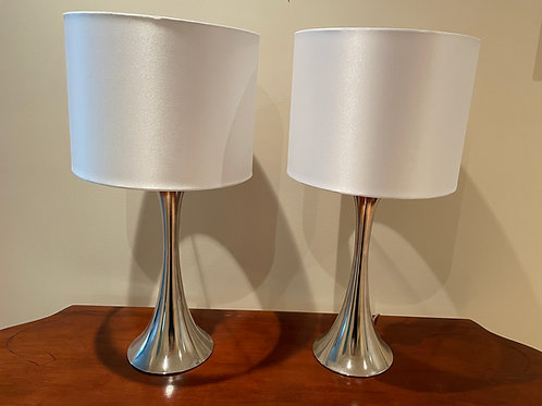 Lot 60 - Pair of Silver Lamps