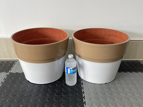 Lot 4 - Large Pair of Planters