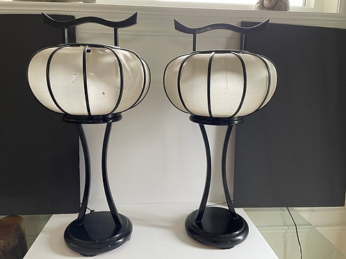 Lot 20 - Pair of Antique Japanese Lamps