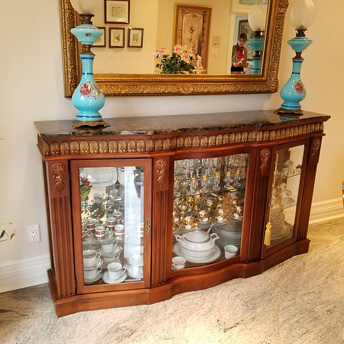 Lot 17 Marble Top Display Cabinet