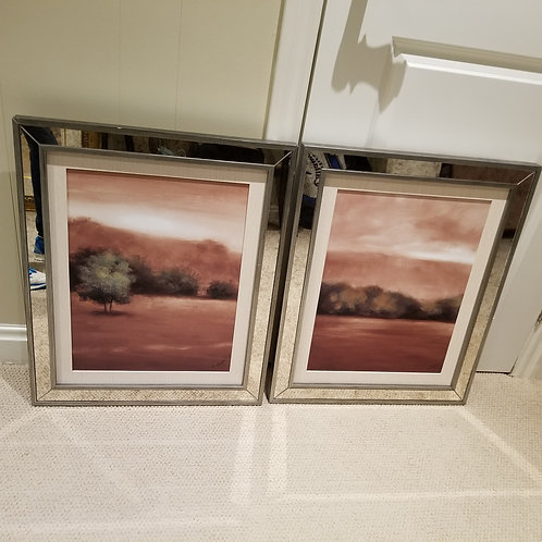 Lot 74 Pair of Mirrored Art Pieces