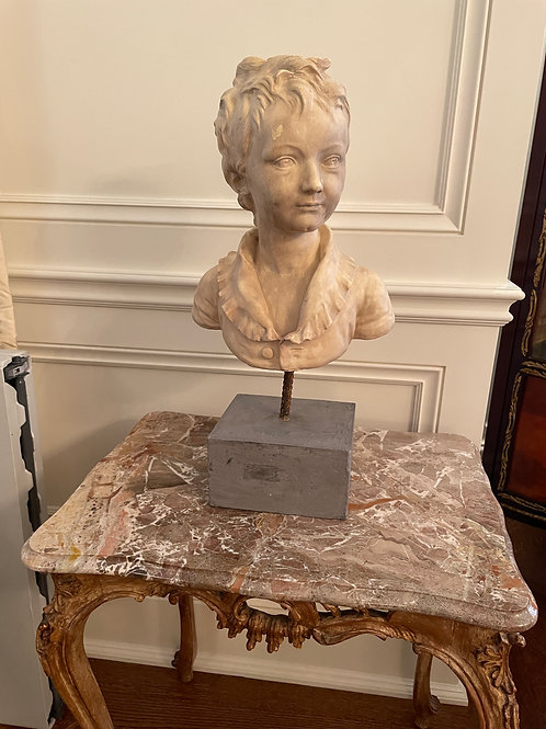 Lot 31 - Bust of Child on Stand