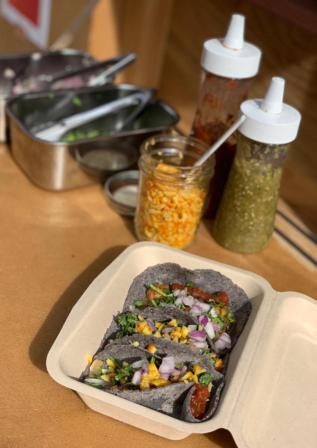 3 Tacos Set (blue corn) + toppings