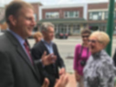 Governor Chris Sununu tours Newport, NH with Jay Lucas to learn about the Newport Sunshine Initiative