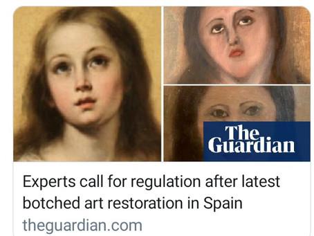 Botched art restoration