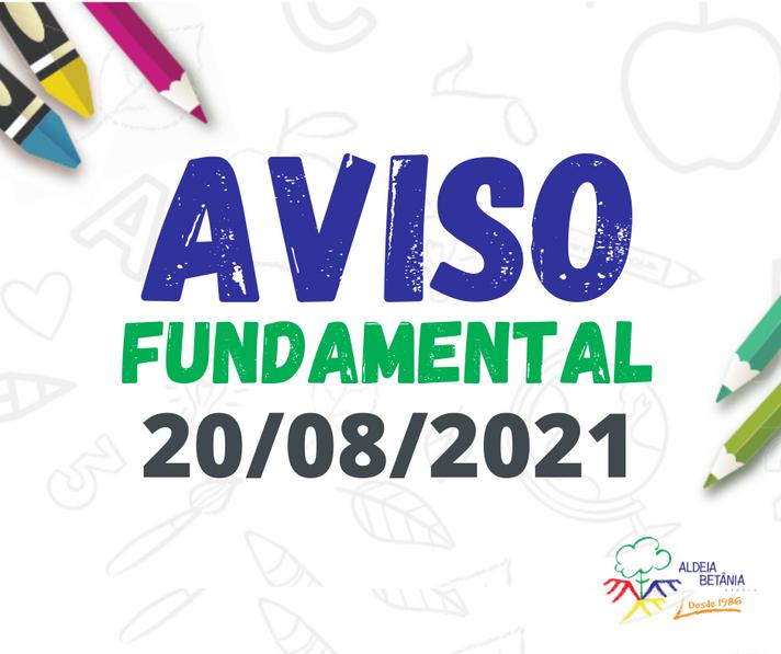 Comunicado - En. Fundamental - 20/08/2021