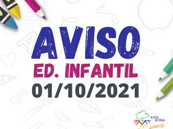 Comunicado - Ed. Infantil - 30/10/2021