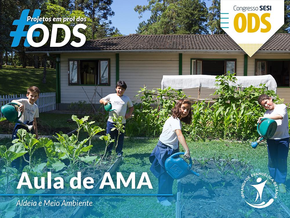 Aula de Aldeia e Meio Ambiente, recebeu o Selo ODS 2018