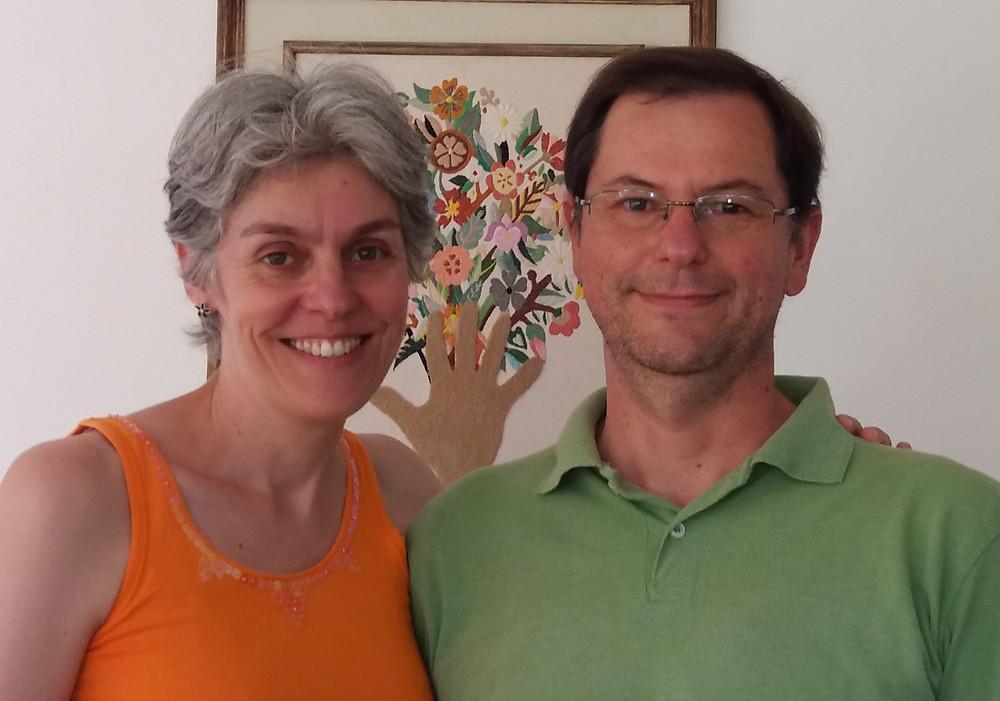 Silvana com seu esposo Antonio Zanatta.