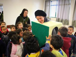 """Campanha """"Esponjinhas Amigas"""" leva conscientização ambiental às crianças da Irmandade Betâ"""