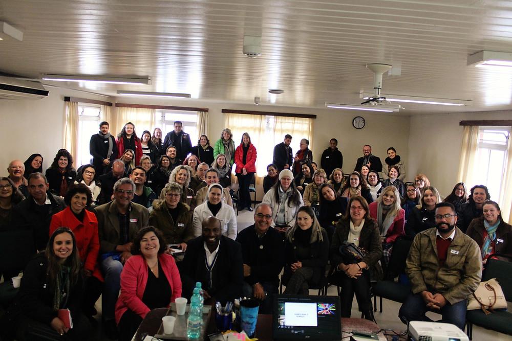 Todos os participantes em uma foto em conjunto