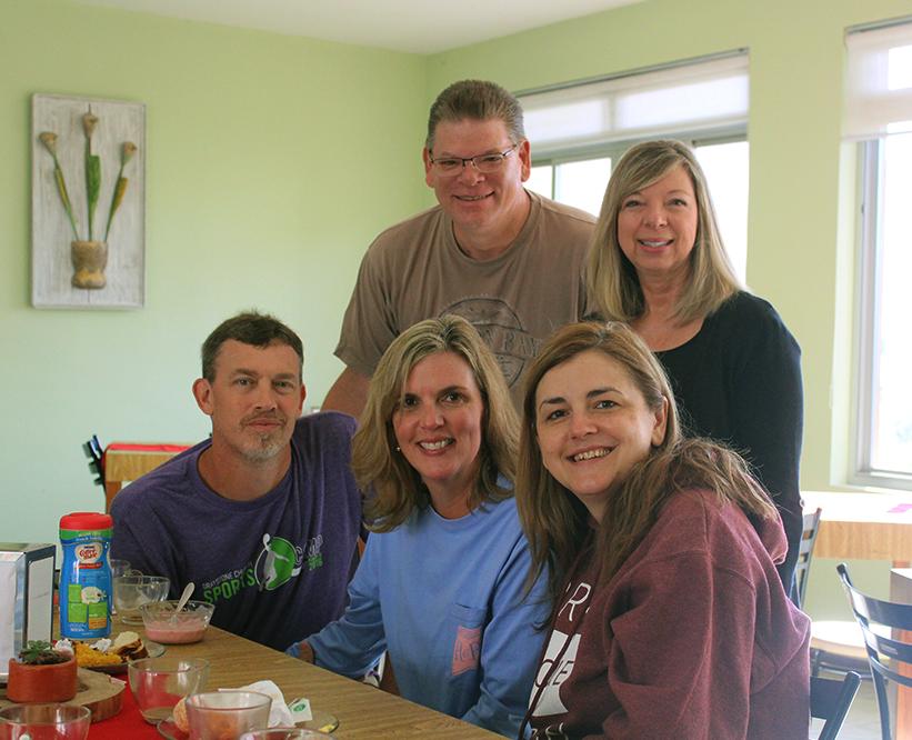 Visitantes americanos na Pousada Betânia