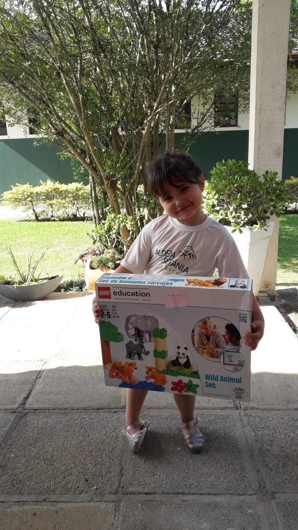 Ganhadoras do Kit Lego