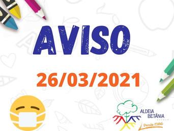 AVISO AOS PAIS - 26/03/2021