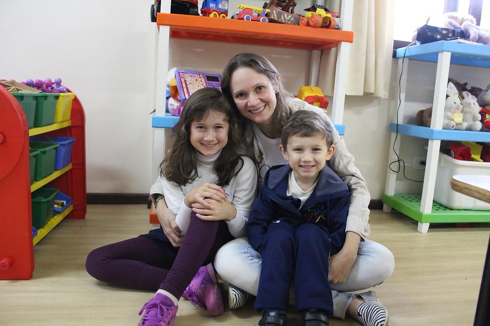 Família Fleith, unidos nas atividades da escola