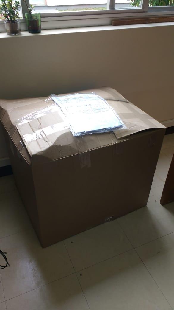 Segunda leva de esponjas usadas para a reciclagem
